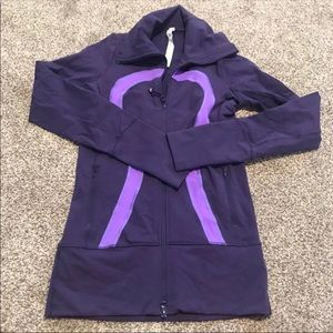 Purple Lululemon Full Zip In Stride Sweater Size 2